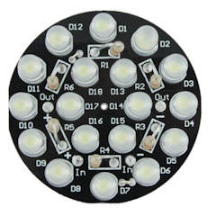 LED SpotLight jr: Assembled with 5mm LEDs