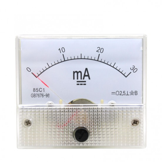 Analog Ammeter (0-30mA DC)