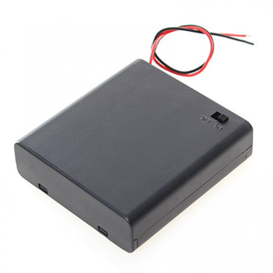 4 AA Battery Holder with Switch