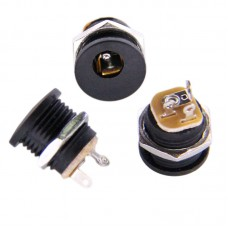 DC Power Connector - 2.5mm - Plastic Panel Mount