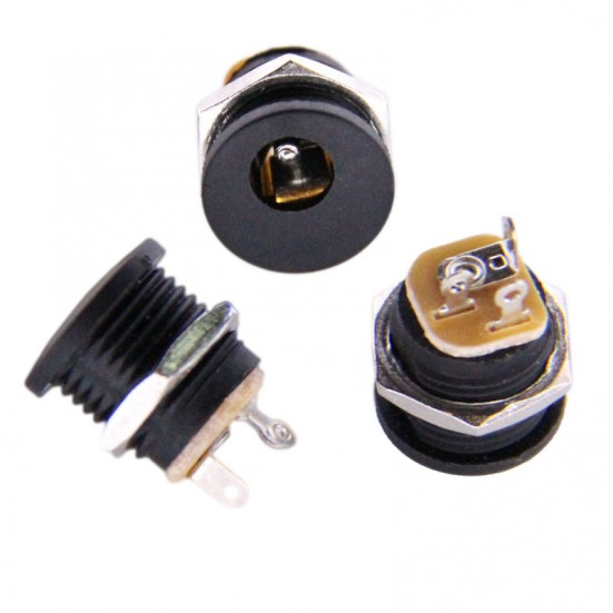 DC Power Connector - 2.1mm - Plastic Panel Mount