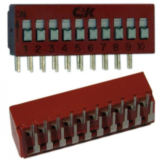 10 Position DIP Switch