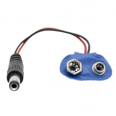 9 Volt Battery Adapter to 2.1mm Male Plug