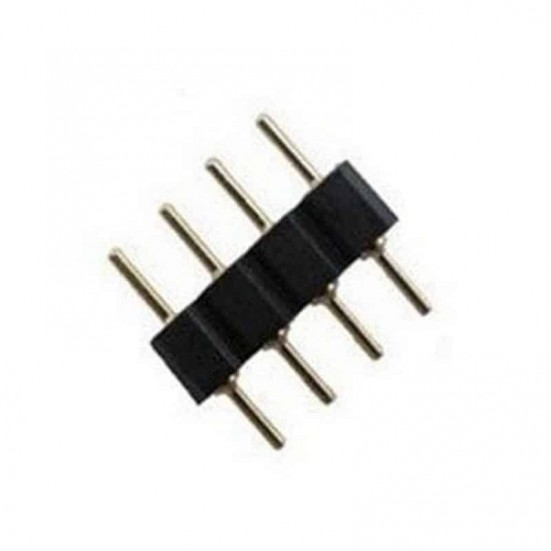4-Pin RGB Double Male Needle Connector