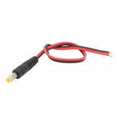 DC Power Jack 5.5x2.1mm Male to Pigtail