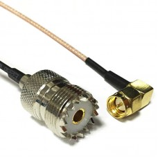 SMA Male Right to UHF SO-239 with 6-inch (15cm) Cable