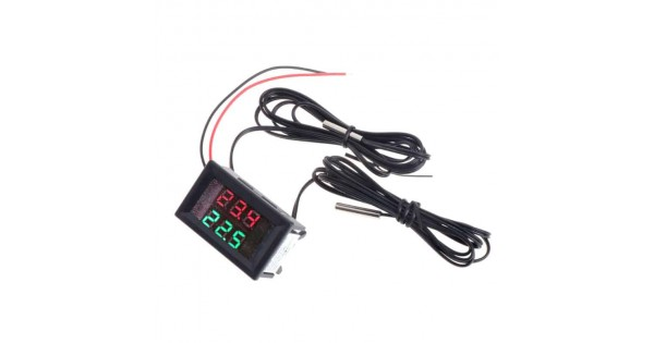 dual digital temperature with red and green displays