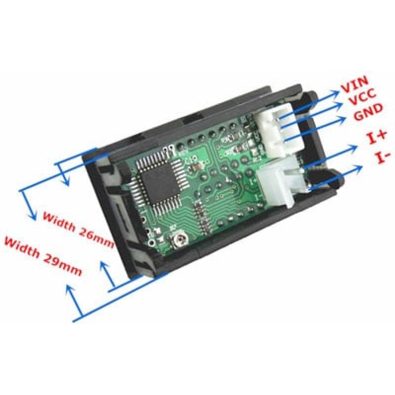 Digital Voltmeter And 50a Ammeter Dual 0 28inch Led Displays