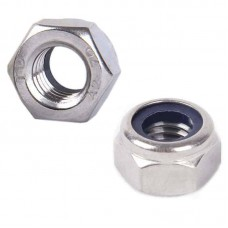 Self-Locking M4 Hex Nut (Metric - Stainless)