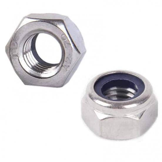 Self-Locking M4 Hex Nut (Metric - Stainless)