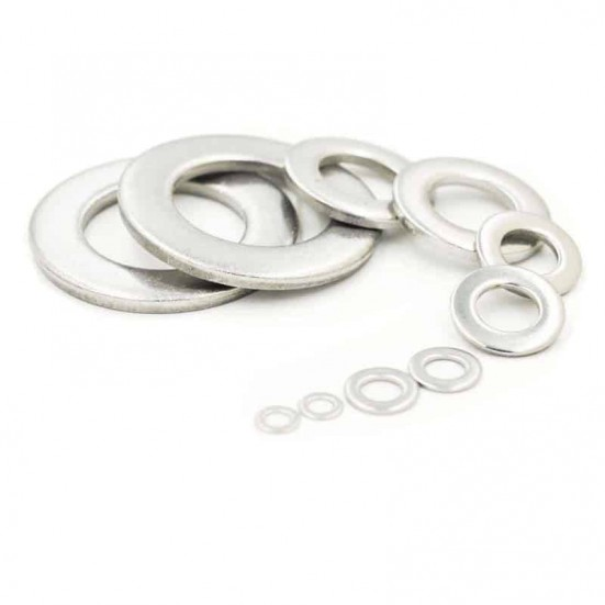 Thin Flat Washer in M2, M2.5, M3 and M4 (Metric - Stainless)