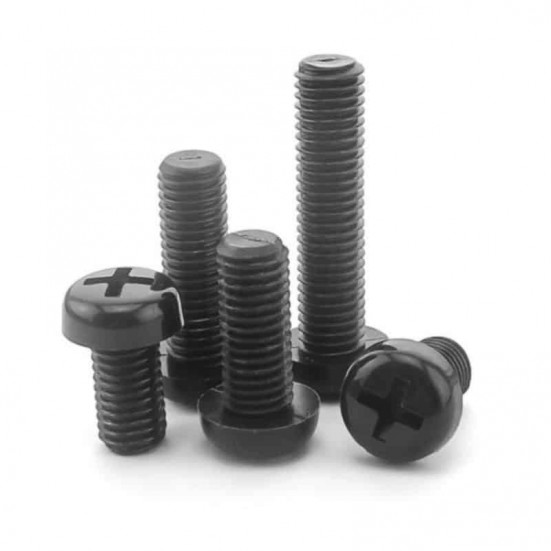 Black Nylon Machine Screw - Phillips Pan Head