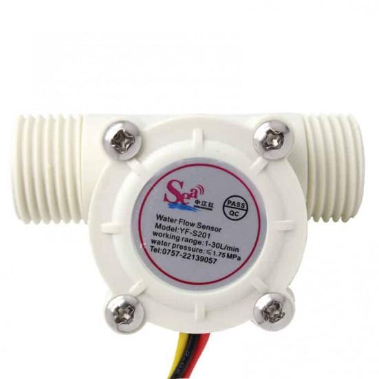 Water Flow Sensor YF-S201 (White)