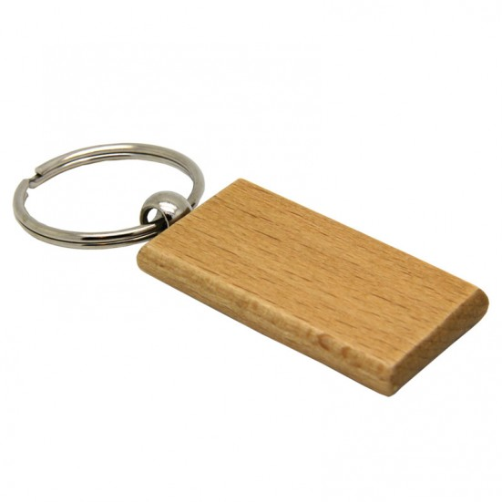 Laser Engravable Rectangular Wooden Key Chain