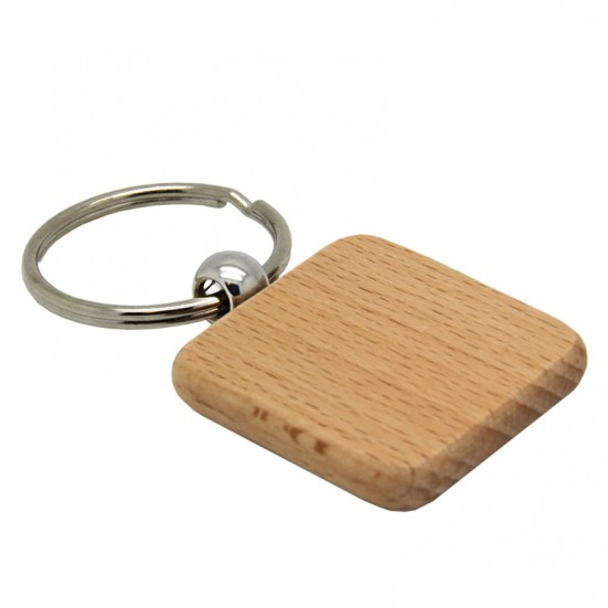 Laser Engravable Square Wooden Key Chain