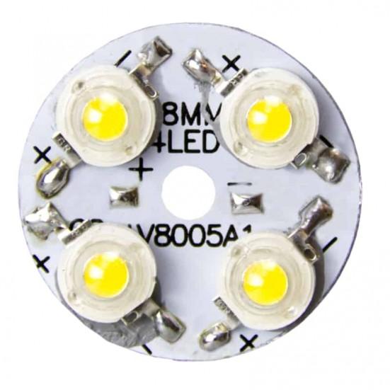 28mm 4-LED Aluminum Plate PCB