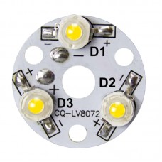 32mm 3-LED Aluminum Plate PCB