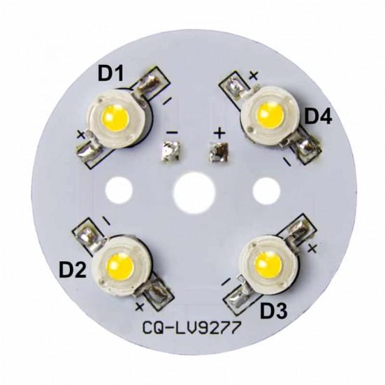 45mm 4-LED Aluminum Plate PCB