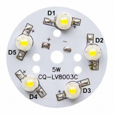 50mm 5-LED Aluminum Plate PCB