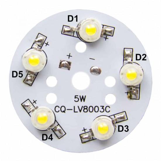 50mm 5-LED Aluminum Plate PCB