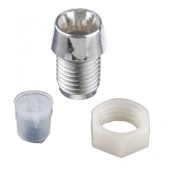 LED Holder with Chrome Finish (for 3, 5, 8 or 10mm LEDs)