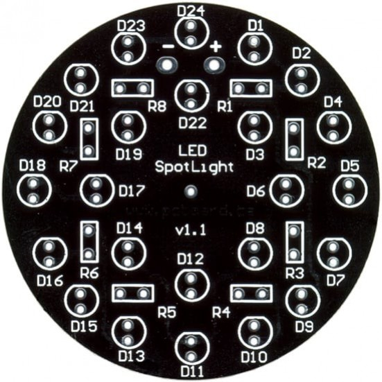 LED SpotLight: 24-LED Display PC Board