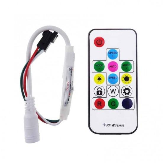 WS2812/WS2811 Mini RF Controller v1