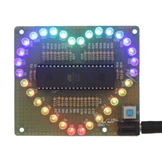 LED Colorful Heart Display Kit