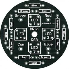 LED MR16RGB: 4-LED RGB MR16 Display PC Board