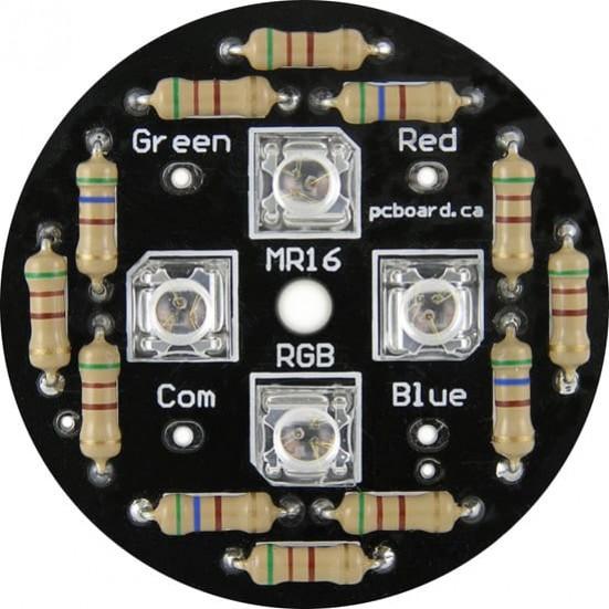 LED MR16RGB: 4-LED RGB MR16 Display Kit
