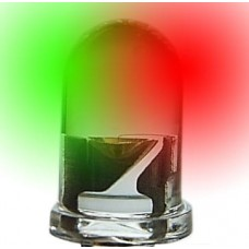5mm Dual Color LED Green/Red (Frosted Lens)