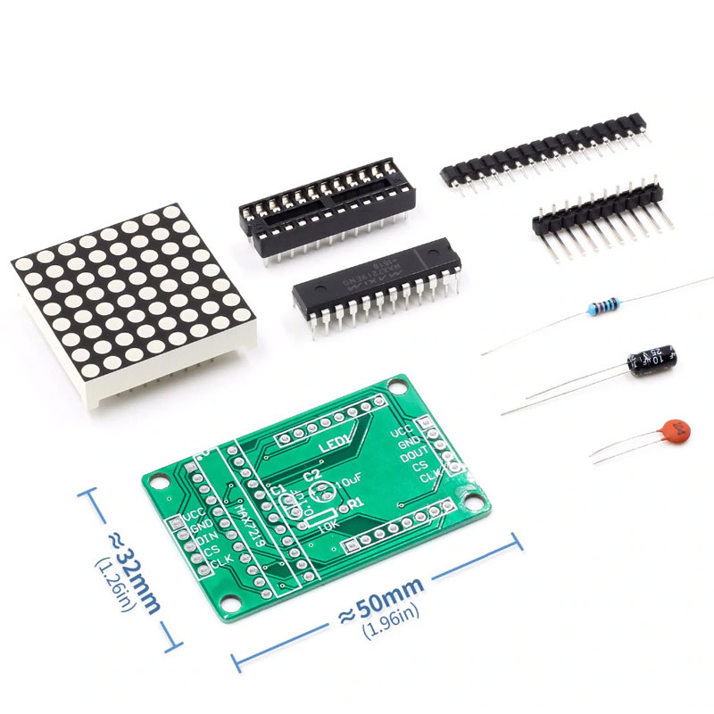 MAX7219 Display Driver Kit with Red Display