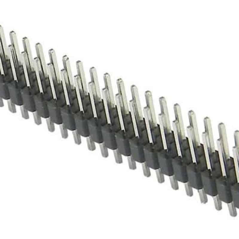 White 1x40 Male Breakaway Pin Header 2.54mm Pitch 10x