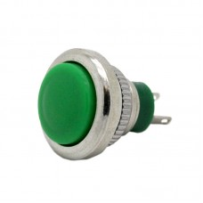 12mm Pushbutton with Green Button - Normally Open Contacts