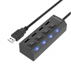 4 Port USB Hub with On/Off Switches