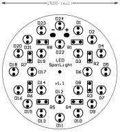 LED SpotLight 24-LED Component Layout