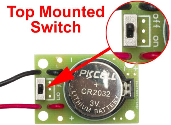 CR2032 Battery Holder with Switch - 02