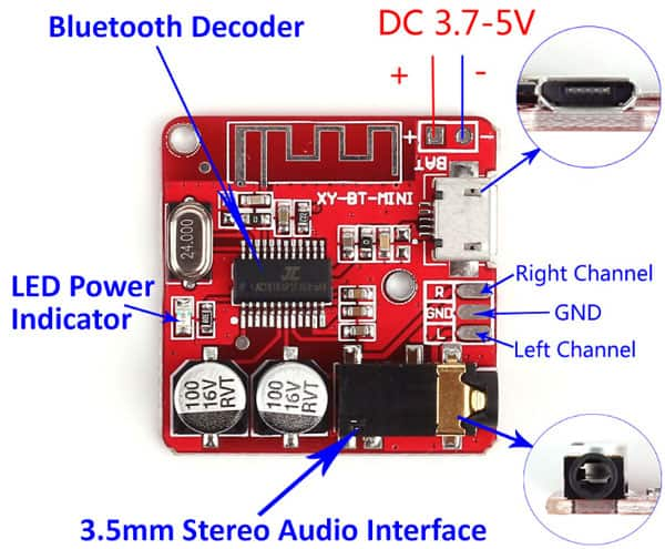 Bluetooth Lossless Decoder Board Connection Hookup Information