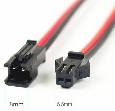 JST SM 2-Pin Connector Set - 1