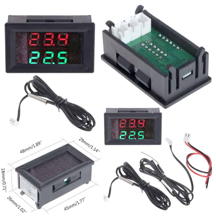 Dual Display Digital Temperature Meters