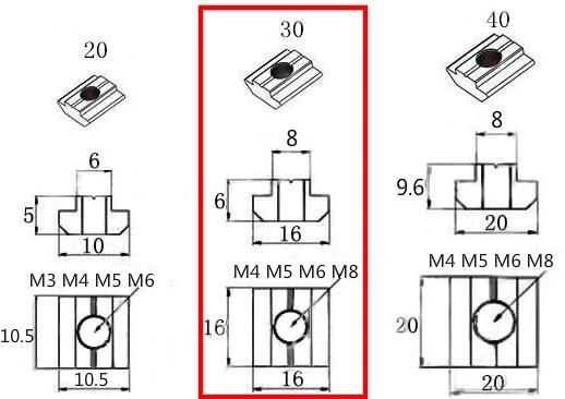 T-Slot Nut 30T-M5