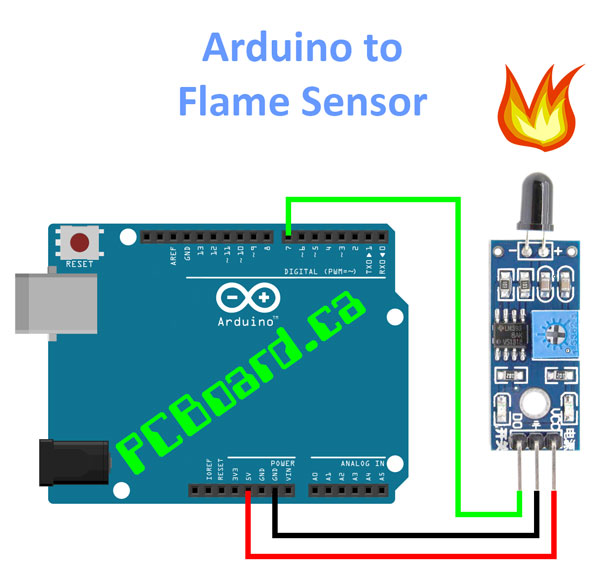 infrared flame sensor wiring diagram