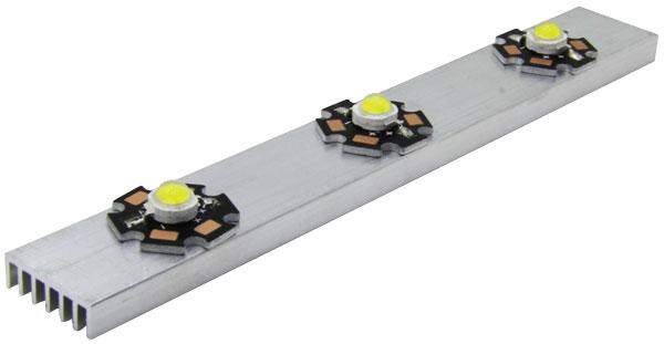 150 x 20 x 6mm Heatsink With STAR LEDs