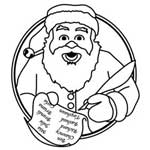 Laser Engraved - Christmas - Santa with List
