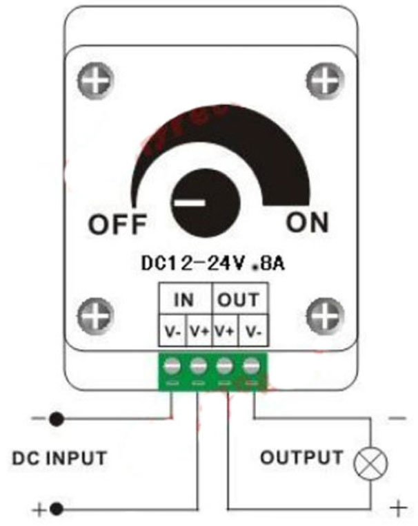 Hookup connection to LED Dimmer