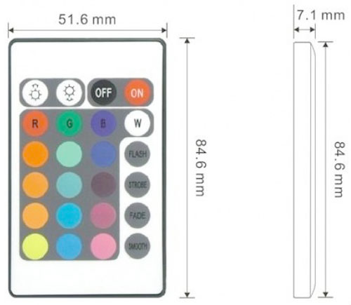 RGb LED Effects Controller IR Remote Controller