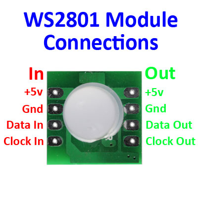 WS-2801 LED Pixel Connections