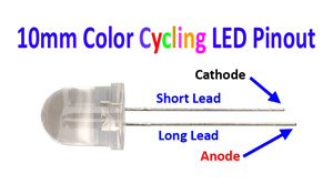 10mm Color Cycling LED Pintout