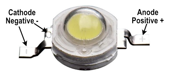 1 or 3 watt LED Bead Connections