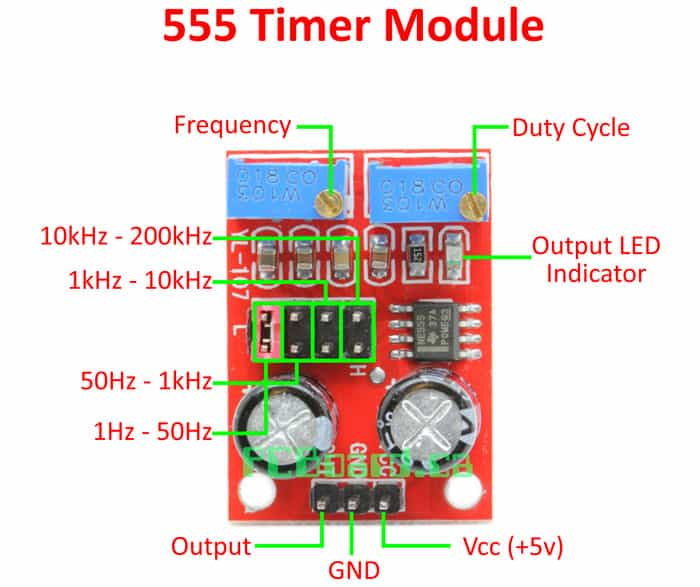 Ne555 Adjustable Square Wave Signal Generator